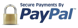 We Offer Secure Payments Via PayPal
