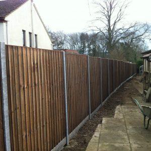 Concrete & Wooden Fencing