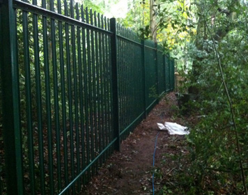 Coated Palisade Fencing