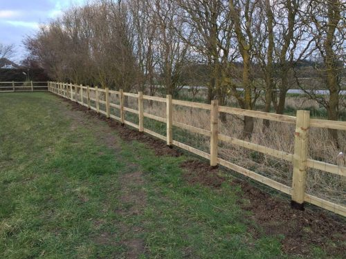 Fencing Project in Wisbech