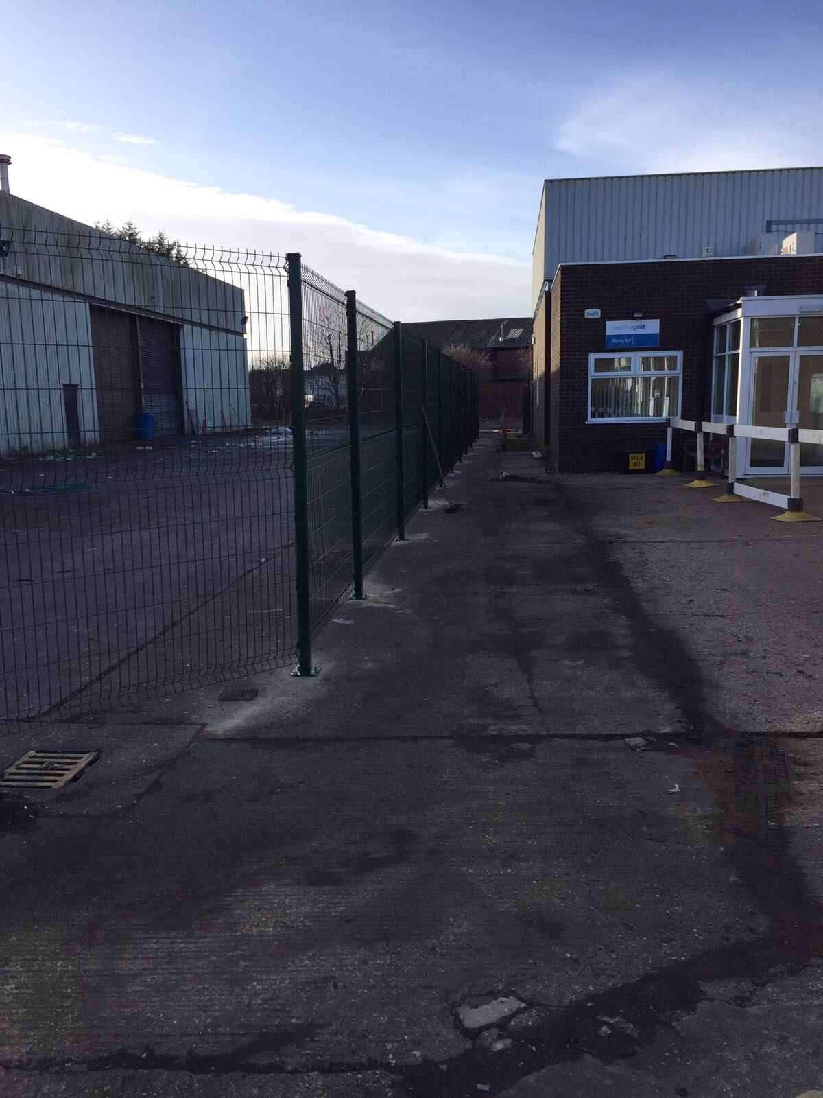 Security Fencing Project In Cambridgeshire Oakfield Uk