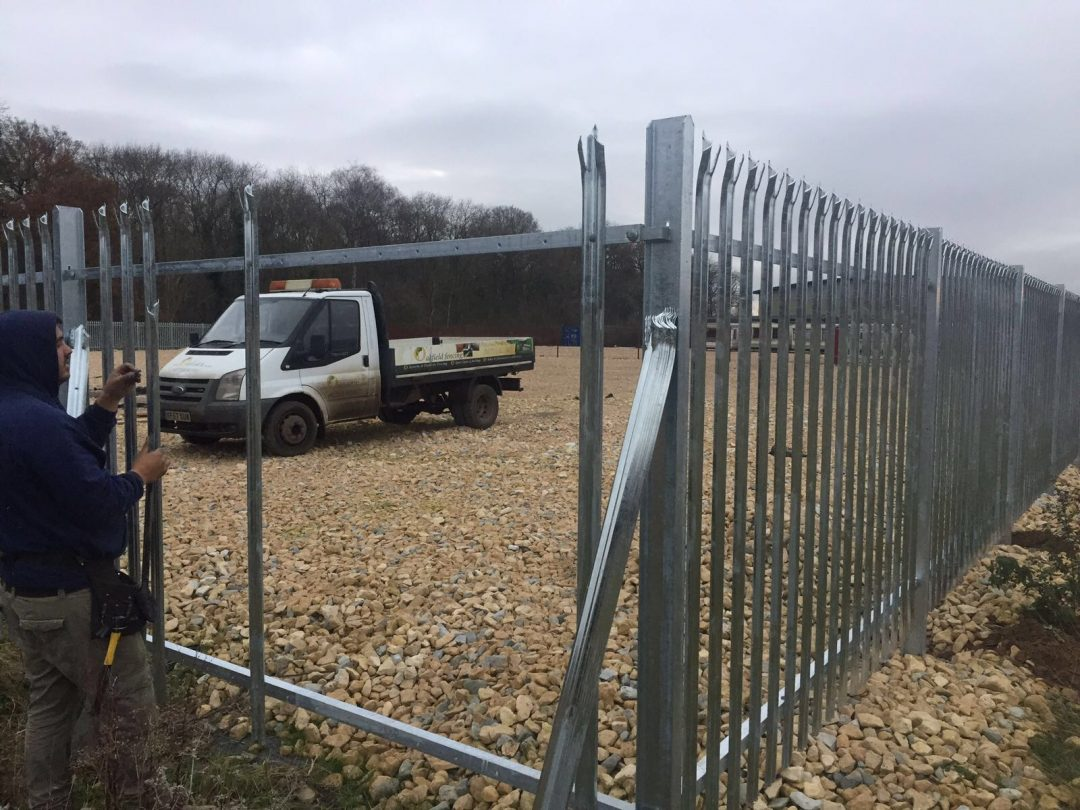 Large Security Fence Project In Lincolnshire Oakfield Uk