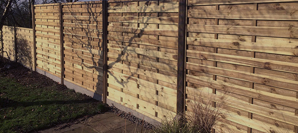 Fence panel, posts and gravel boards installed by Oakfield UK