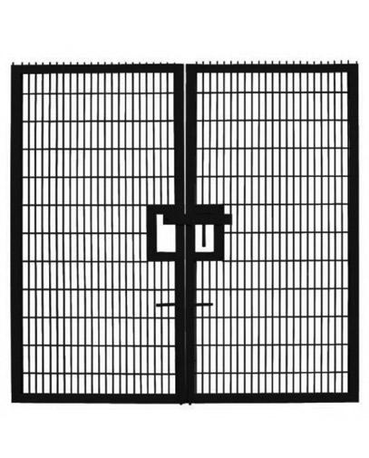 double twin mesh security gates oakfield uk ltd peterborough