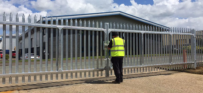 Steel Security Fence Installation from Oakfield UK